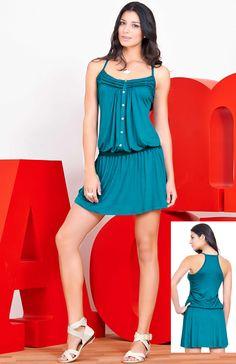 Verde en furor.  Moda femenina Dupree colombia