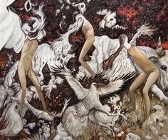 vultures oil on canvas 120x100cm