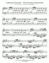 Una Mattina Theme Full Version | Easy Piano Sheet Music