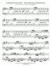 Una Mattina Theme Full Version   Easy Piano Sheet Music