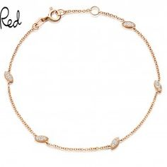 I love this 18 carat rose gold diamond bracelet from Astley Clarke.