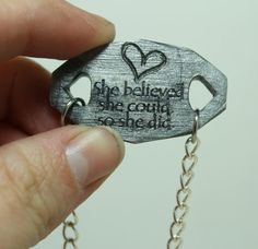 Mantra bracelet She believed she could so by GirlwithaFrogTattoo