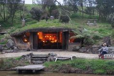 Underhill Valley Earth Huts, Hamilton Picture: Earth House at dusk - Check out TripAdvisor members' 1,107 candid photos and videos of Underhill Valley Earth Huts