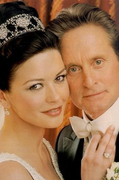 Catherine Zeta-Jones - Michael Douglas - Hollywoods Perfect Couple --  gorgeous tiara!