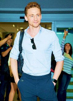 I LOVE IT when he wears the button up shirts with the sleeves rolled up. It looks especially fantastic on him.