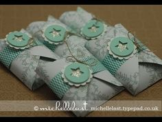 Treat pouches using the envelope punch board