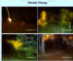"These ghost photos were sent by Bridget Willis of bridget22868@yahoo.com. Bridget said, ""These pics were taken in the back yard of my property."" Dr. Dave's Notes: These strange and colorful anomalies are all energy patterns common to the paranormal."