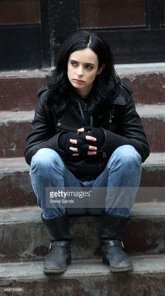 Krysten Ritter as Jessica Jones filming Marvel / Netflix's 'Jessica... News Photo   Getty Images