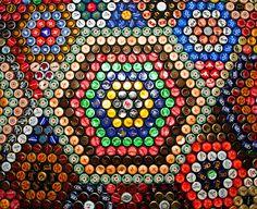 beer cap table - pattern