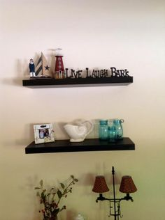 Showcase an eye-catching collection of your favorite photos or mementos with this Home Decorators Collection Espresso MDF Floating Shelf. Contemporary Shelving, Home Depot, Floating Shelves, Espresso, Wall, Espresso Coffee, Wall Mounted Shelves, Walls