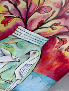 bird painting love