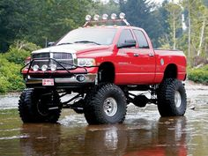 lifted dodge ram 2500 truck mudder