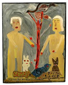 Mose Tolliver, one of the leaders of the modern Southern outsider art--and his Adam and Eve.