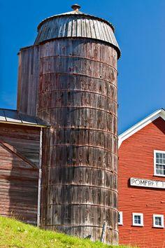 wooden silo