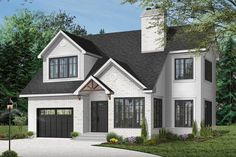 Plan 2 Story House Plan With Upstairs Bedrooms And Laundry Cottage Style House Plans, Cottage Style Homes, Cottage Design, Cottage House, Farm House, Garage House Plans, Craftsman House Plans, House Floor Plans, 1200 Sq Ft House