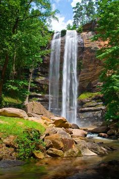 Toccoa Falls is located on the campus of Toccoa Falls College (photo by Cliff Klein)