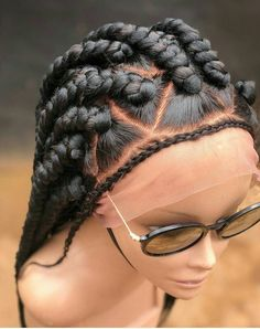 Braided Wig/ Full Lace wig/ Wig/ Braided Full Wig - Hairstyles For All Box Braids Hairstyles, Braids Wig, Cool Braids, African Hairstyles, Black Hairstyles, Teenage Hairstyles, Fishtail Braids, Half Braid, Hairstyles Videos