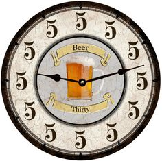 Beer Thirty Clock Personalized Clock by TimeFliesClocks on Etsy