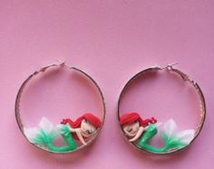 white snow earrings in fimo polymer clay by Artmary2 on Etsy