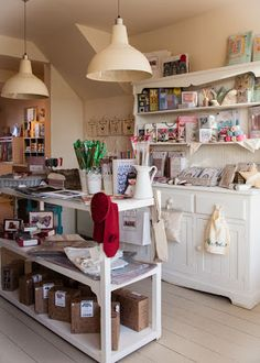 Inspiration for a crafty studio space? Thank you, Hoop Haberdashery in Kent.