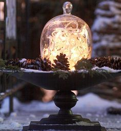 17 Image Gallery - Like Flurries In A Snow Globe, Decor Placed Under Glass Feels Oh-So Magical!