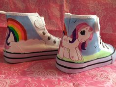 Hand Painted My Little Unicorn Canvas Boots by Mybootifulcreation