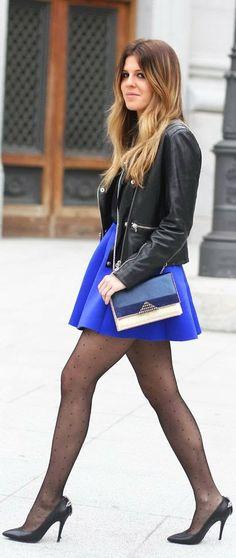 Blue Skirt And Plumett