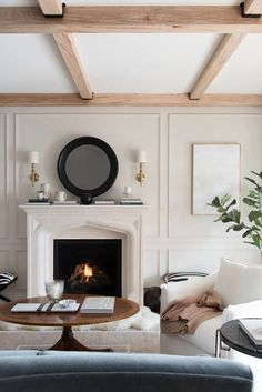 Formal Living Room Updates - roomfortuesday.com Casual Living Rooms, Living Room Update, Rustic Room, Paint Colors For Living Room, Beautiful Living Rooms, Fireplace Design, Small Space Living, Lounge Areas, Living Room Inspiration