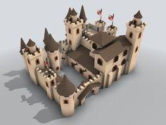 Galerías de imágenes hechas con Blender en JM Web - Exin Castillos - Caserío Fortificado