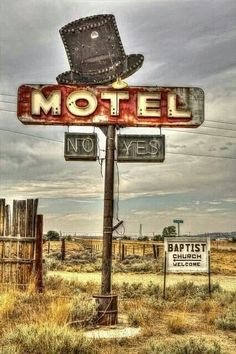 'No - Yes' Coat's Motel, Jeffrey City, Wyoming vintage neon sign Old Buildings, Abandoned Buildings, Abandoned Places, Abandoned Castles, Wyoming, City Ville, Vintage Neon Signs, Famous Castles, Roadside Attractions