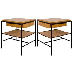 A Midcentury Pair of End Tables by Paul McCobb