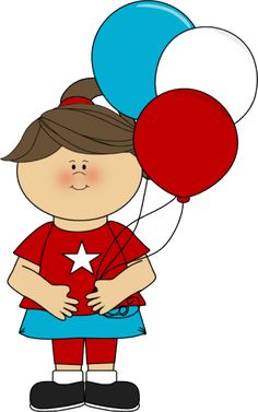 july 4th | July 4th Clip Art Image - girl celebrating the fourth of July ...