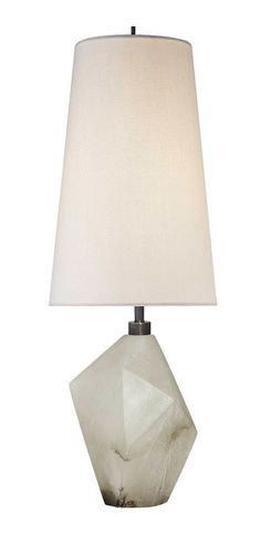KELLY WEARSTLER | HALCYON ACCENT TABLE LAMP. Alabaster lamp with linen shade