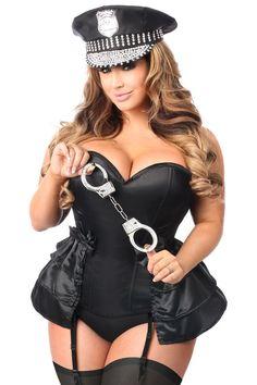 Daisy Corsets Lavish 4 PC Rhinestone Cop Corset Costume