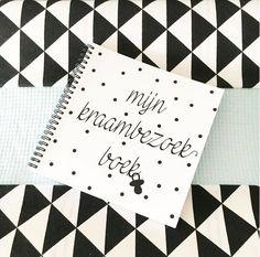 kraambezoekboek met allerlei leuke vragen voor al het kraambezoek.