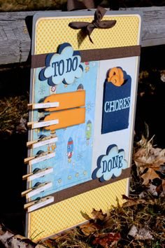 Love and Rockets Steel Decorative Chore Board by eclecticartistry, $36.00