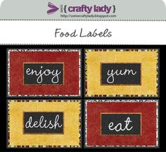 Make your food a little extra special by adding one of these pretty printable labels to your dishes.