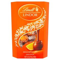 Lindt Lindor Milk Chocolate Orange 200G