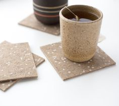 Confetti Patterned Coasters  Set of four  by cottonandflaxshop, $20.00
