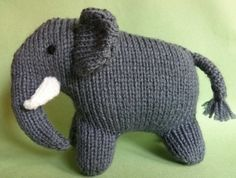 Knitted elephant - Sarah Keen pattern - Knitted Noah's Ark
