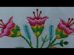 Hand Embroidery Designs | Hand embroidery stitches tutorial | Stitch and Flower-93 - YouTube