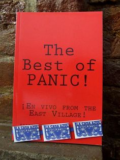 """The Best of Panic!"" edited by Charlie Vazquez. La Casa Azul Bookstore loves #LatinoLit"