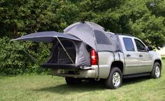 chevy avalanche tent - Our spare room for the family camping trip!