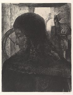The Old Knight Odilon Redon (French, Bordeaux 1840–1916 Paris)  1896 Lithograph on chine collée