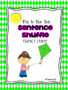 READING LEVEL:  Kindergarten This Fun in the Sun fluency center is aligned with Kindergarten and 1st grade Common Core Standards. (priced)