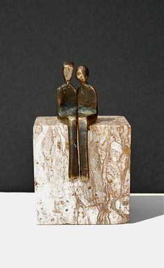 BY YOUR SIDE Petite cast bronze sculpture of by YennyCocq on Etsy