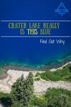 Yes, Crater Lake is really THIS BLUE!  Find out what why this iconic national park lake is such an amazing and unique color!