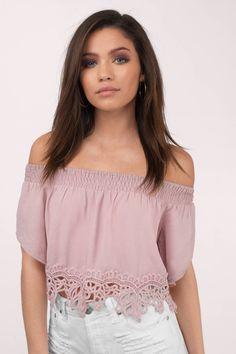 Haven Off Shoulder Crop Top at Tobi.com #shoptobi