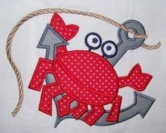 Nautical Crab Applique: 2 Sizes! | Beach/Ocean | Machine Embroidery Designs | SWAKembroidery.com Kimberbell Kids