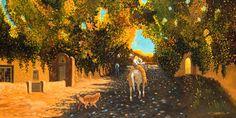 Old Main Street of Taos, Southwest Art, Ed Sandoval